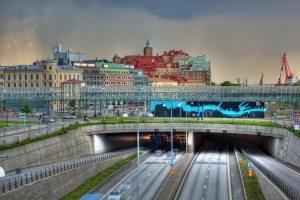 The Göta tunnel in Gothenburg